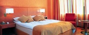 The Scandinavian-style décor at the Radisson Blu Saga hotel.