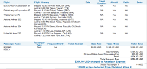 US Airways Australia miles