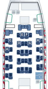 Direct aisle access with the new business class so I selected 3A, a window seat