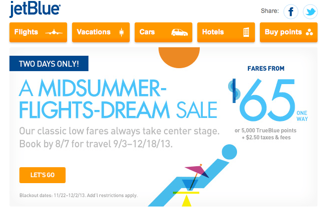jetblue midsummer flight s dream fare sale washington dulles to jfk for 65 one waythe points guy. Black Bedroom Furniture Sets. Home Design Ideas