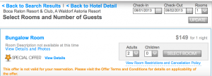 $149 per night at the Boca Raton Resort.
