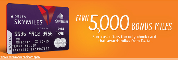 Suntrust issues the Delta SkyMiles debit card.
