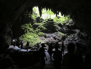 Entrance to the Cueva Clara, Puerto Rico, Entrance.jpg Entrance to Cueva Clara.