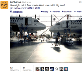 It is East Meets West for @Lufthansa.