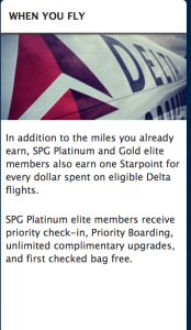 SPG Plats now get complimentary upgrades.