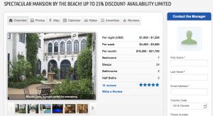 Hollywood Mansion Rental