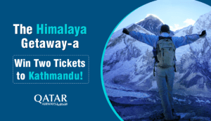 "Win a ""Himalaya Getaway"" with Qatar Airlines."