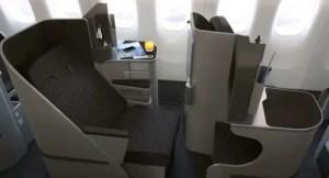 Garuda's 777-300ER business class looks nice too.