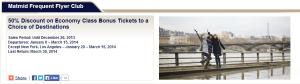 50% Off Bonus Tickets at El Al Airlines.