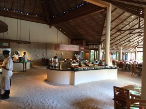 The daily breakfast buffet at Atoll was awesome- Asian buffet, traditional European, omelette station, fresh juice and fruits.