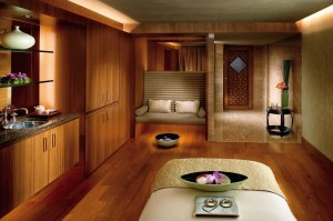A spa treatment room at the Mandarin Oriental Hong Kong.