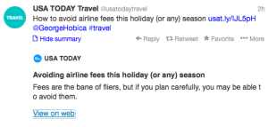 USAToday Airline Fees