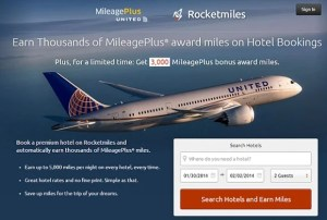 Get 3000 bonus United miles when booking on Rocketmiles.