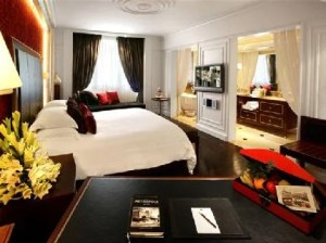 A guestroom at the Sofitel Hanoi.