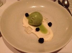 Dessert was fresh and light.