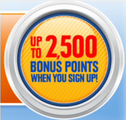 Get 2,500 bonus points for signing up for Southwest Rapid Rewards.