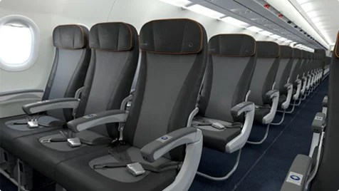 Economy on jetBlue's A321.