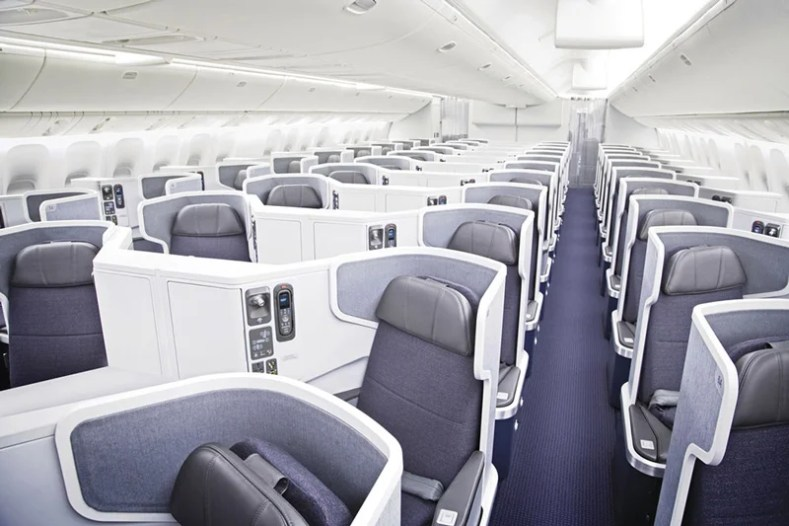 American's business class aboard its 777-300ER