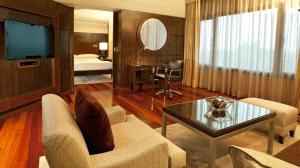 Premier suite at the Hyatt Regency Delhi