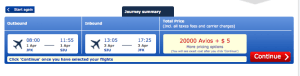 Get to San Juan for 20,000 Avios and $5 roundtrip.