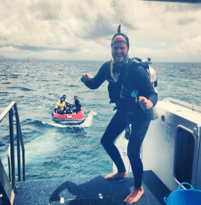 Sometimes, like here in Australia's Great Barrier Reef, it's all about the gear