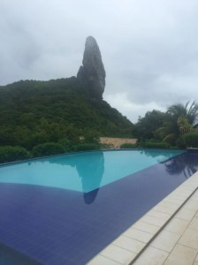 Poolside view of Morro de Pico at ZeMaria