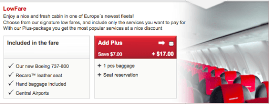You can tack on bags and seat selection for an extra $17.