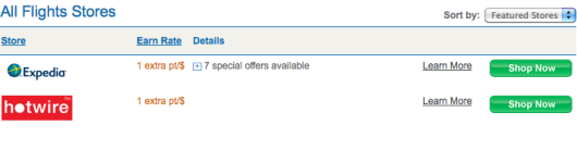 Ultimate Rewards is only offering 1 extra point per $1 on flights booked on Expedia right now.