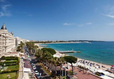 The JW Cannes' is right on La Croisette, across from the Bay of Cannes