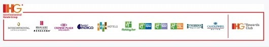 IHG brands range from budget properties to the high end Intercontinental and Indigo boutique hotels.