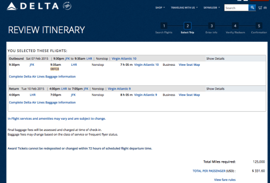 You can redeem your Delta SkyMiles on Virgin Atlantic from JFK-LHR.