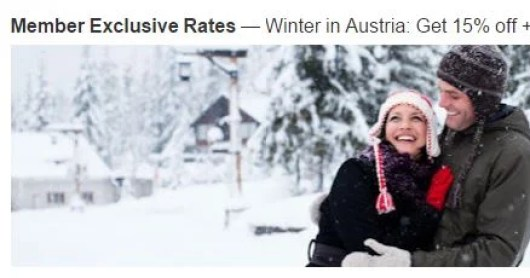 Save 15% at select Marriott hotels in Austria
