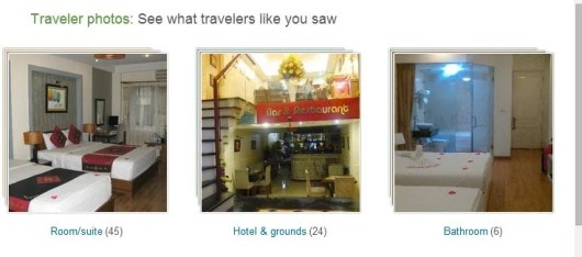 Make sure to check out the Traveler's photos for a real view of what the hotel looks like