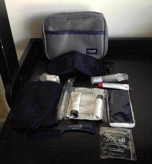 The amenity kit - pretty standard.