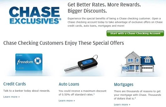 Chase Exclusives offers checking account holders a 10% bonus on the miles earned from their Freedom card