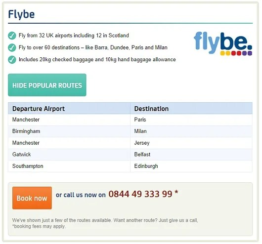 Award flights on European discount carrier Flybe are available when you transfer your BA Avios to the Avios.com program.