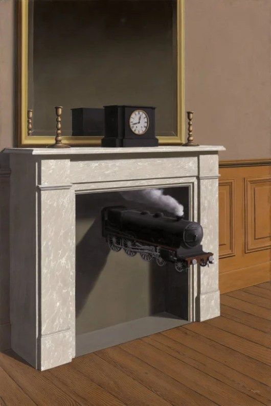 """Rene Magritte's """"Time Transfixed"""" (19"""