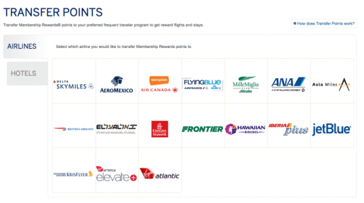 Amex has some great airline transfer partners.