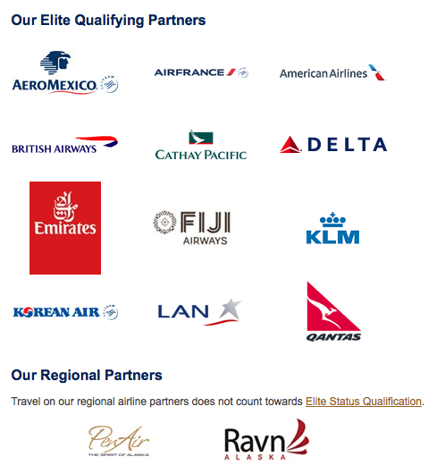Alaska has some amazing airline partners.