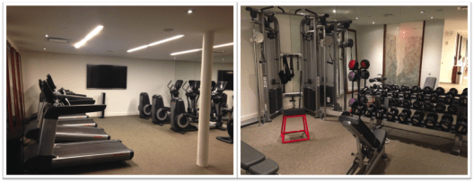 The gym was large for a small-ish hotel, with cardio equipment and weights.