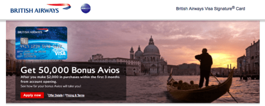 The British Airways Visa tops the list this month because of its first year's waived annual fee.
