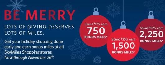 Get 750 bonus miles for every $175 you spend