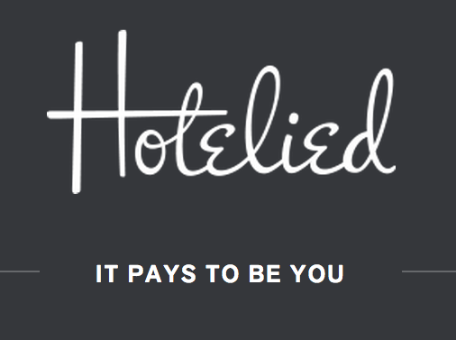 """Hotelied's slogan is """"It Pays Be You"""""""