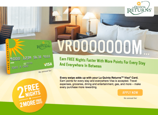 If you earn the full sign-up bonus on the La Quinta Returns Visa, you could have up to 6 free nights!