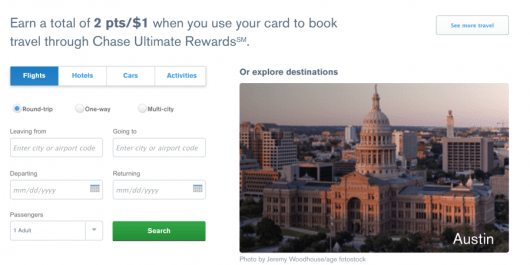You'll still earn a total of 2 pts/$1 when you use your card to book travel