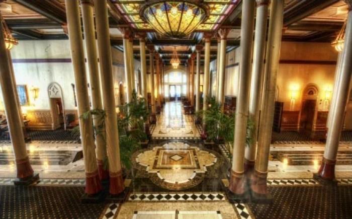 The Driskill's grand lobby in Austin, Texas