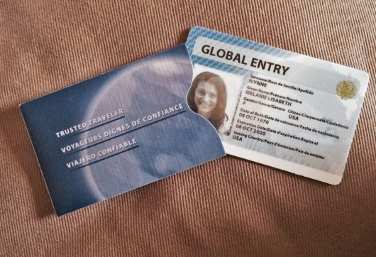 My Global Entry card arrived within one week of approval, with its own protective storage sleeve.