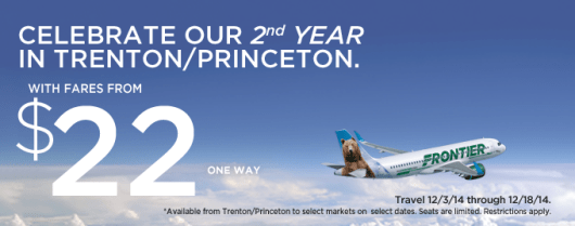 Frontier is having a fare sale with flights from $22 each way.