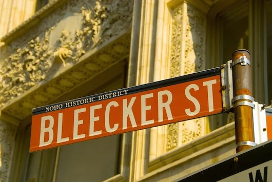 All signs point to Bleecker for cutting edge fashion in New York. Photo courtesy Shutterstock.