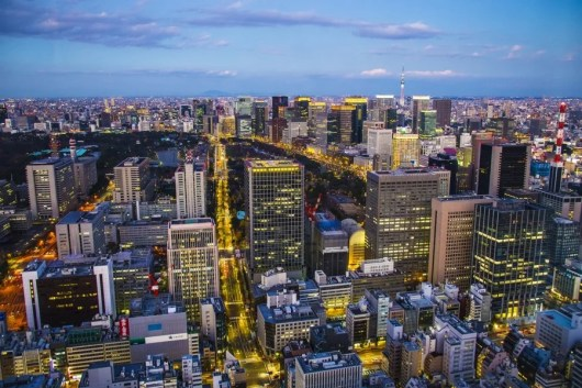 View from our room at the Andaz Tokyo. Photo credit juliogaggia.com